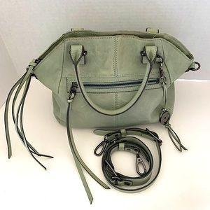Elliott Lucca Gray Green Leather Crossbody Bag